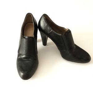 Black Heels LIZ CLAIBORNE Sz 6 Chunky Slip On
